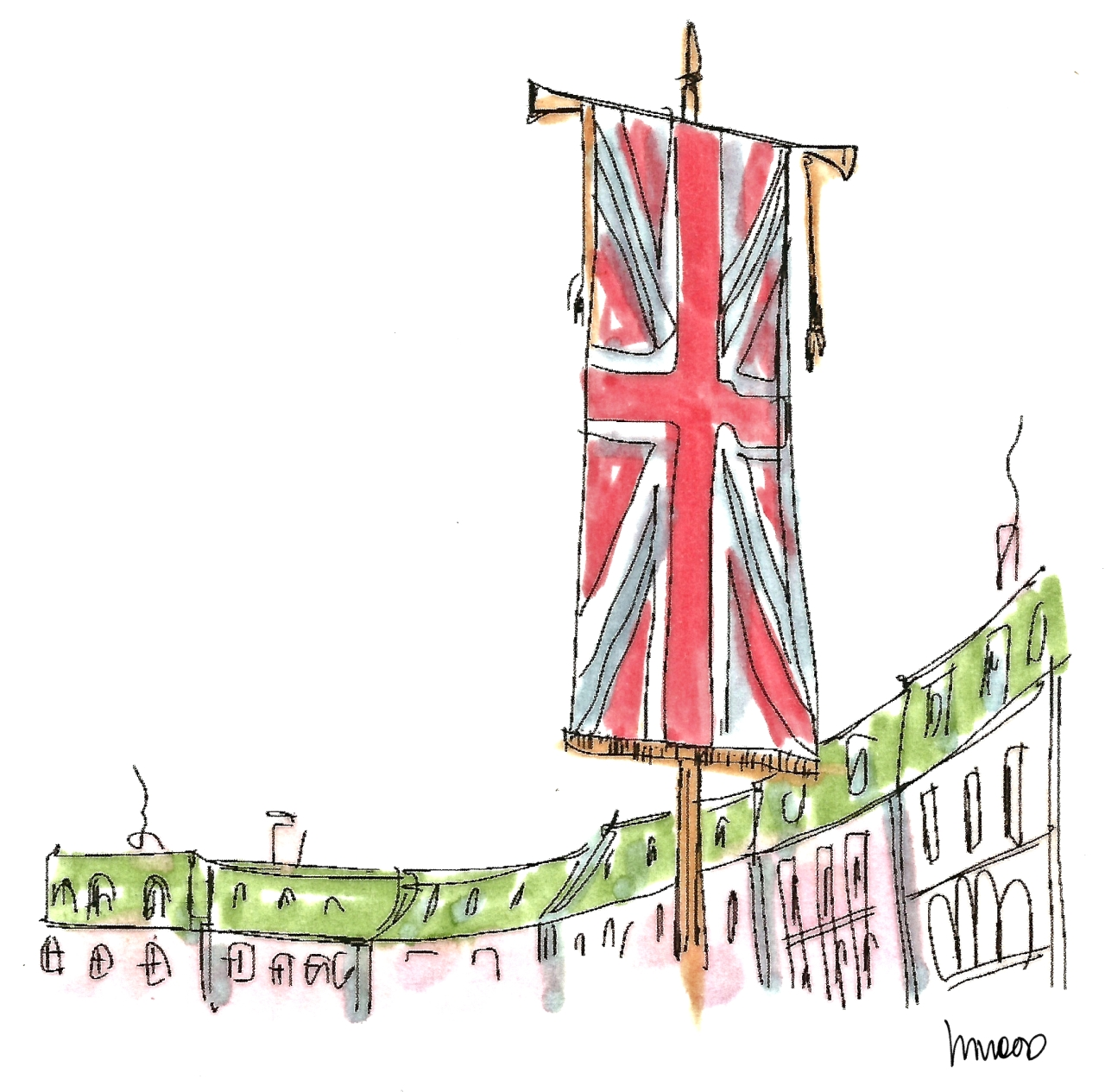M WOOD LONDON UNION JACK