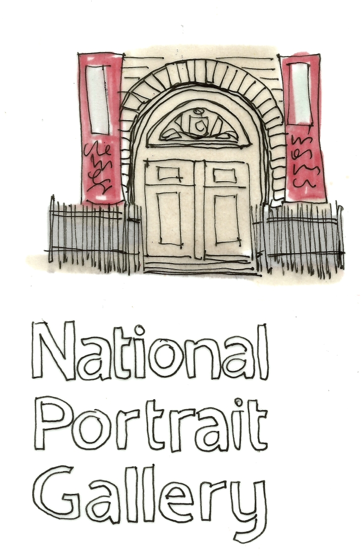 london art national portrait gallery entrance and logo