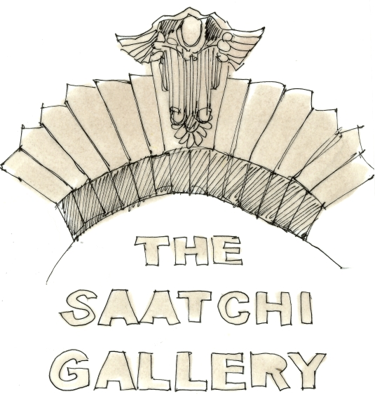 london art saatchi entrance