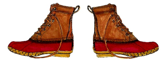 M WOOD BEAN BOOTS RED