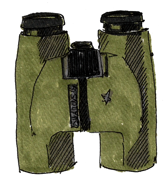 M WOOD BIRD BINOCULARS