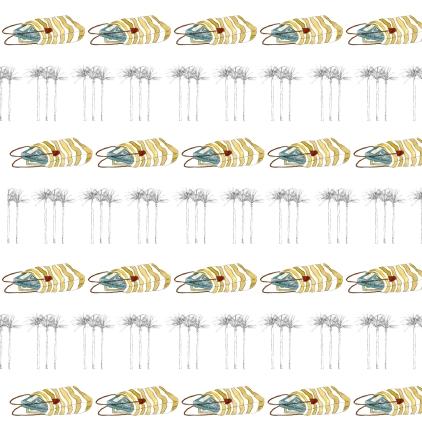 M WOOD BEACH pattern BOOK BAG