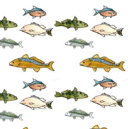 M WOOD BEACH pattern SCHOOL OF FISH