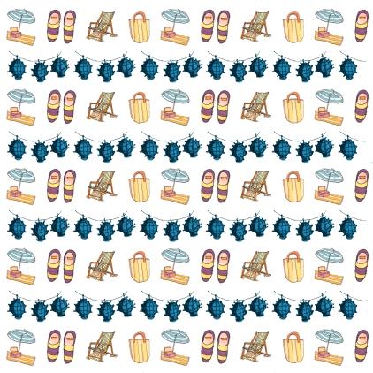 M WOOD BEACH pattern STRIPES AQUA