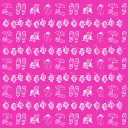 M WOOD BEACH pattern STRIPES HOT PINK