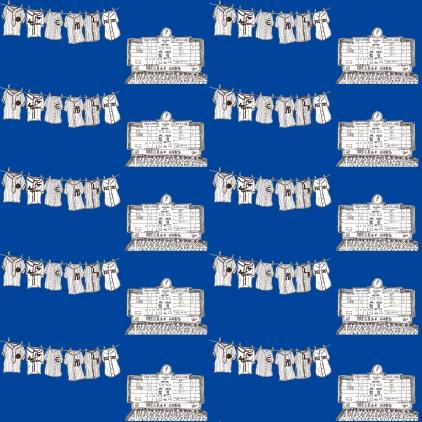 M WOOD CUBS SCOREBOARD JERSEY BLUE PATTERN