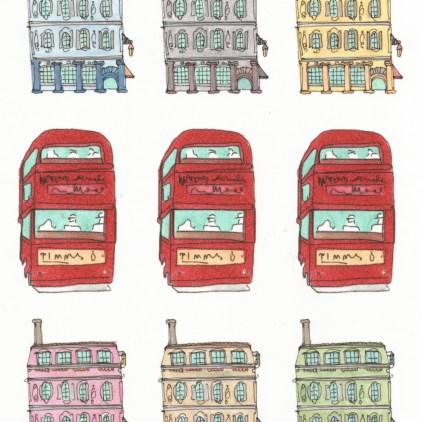 M WOOD LONDON STREETS PATTERN