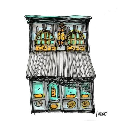 Parisian Café + Patisserie by M. Wood