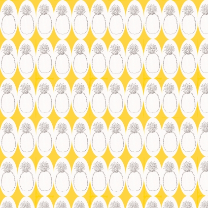 M WOOD PATTERN PINEAPPLES