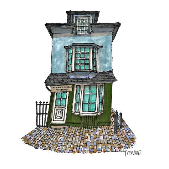 M WOOD WINDSOR CROOKED HOUSE