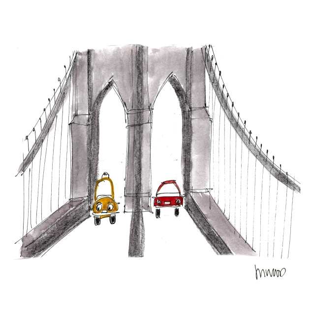 Brooklyn Bridge Cars @mwoodpen