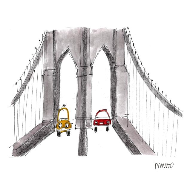 Brooklyn Bridge Cars @mwoodpen