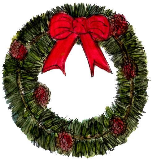 Pine Wreath @mwoodpen