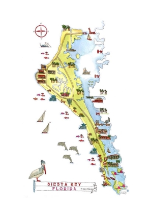 Siesta Key Map @mwoodpen
