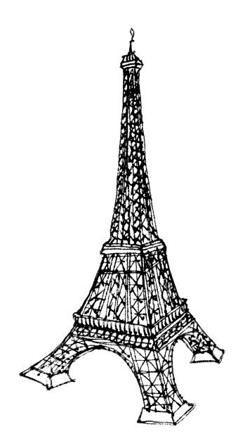 La Tour Eiffel @mwoodpen