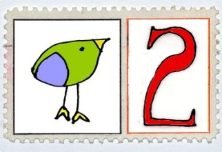 Two Turtle Doves Stamp @mwoodpen