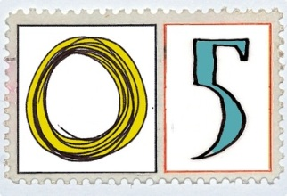 Five Gold Rings Stamp @mwoodpen