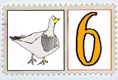 Six Geese A Laying Stamp @mwoodpen