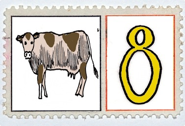 Eight Maids A Milking Stamp @mwoodpen